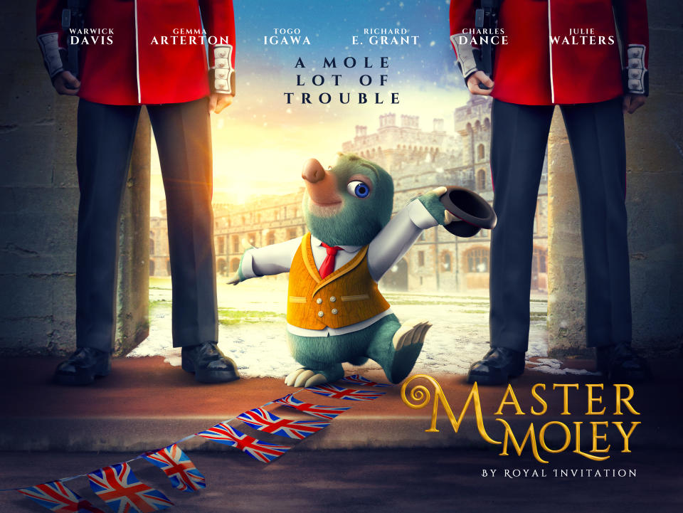 Warwick Davis is also lending his voice to Master Moley: By Royal Invitation (Boomerang)