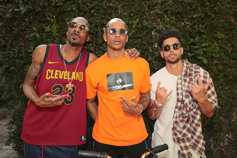 Snoop Dogg, Cordell Broadus, and Jesse Wellens attend a Levi's brunch in Palm Springs.