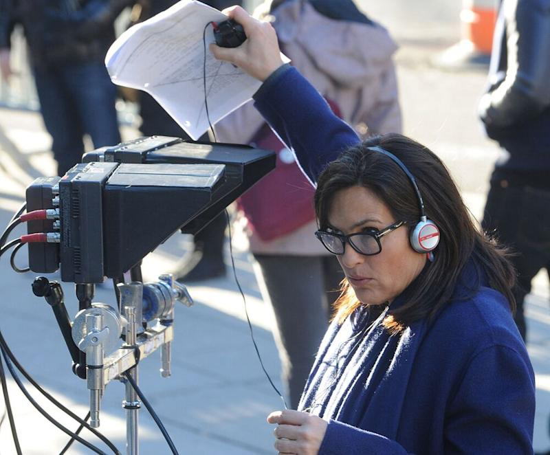 Hargitay directing a 2014 episode of SVU. | Bobby Bank/GC Images