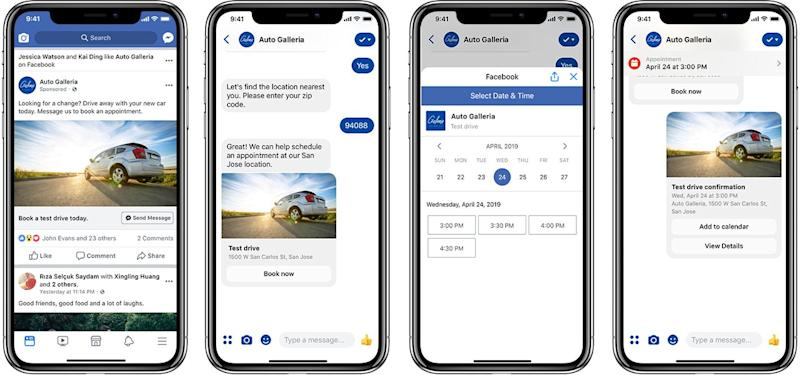 Appointment booking is one new feature coming to Messenger. Source: Messenger