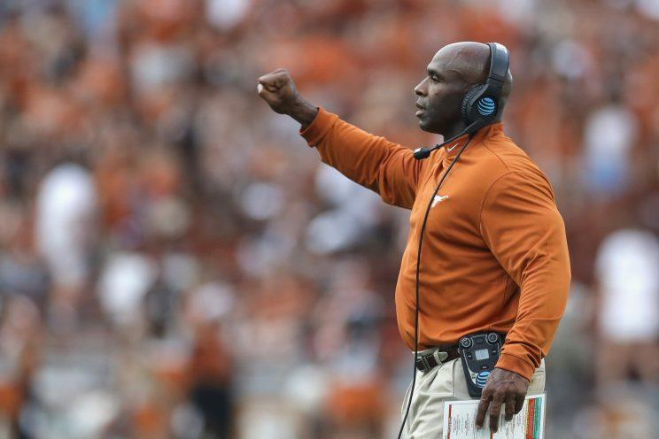 Charlie Strong finished his career at Texas with a 16-21 record. (Getty)