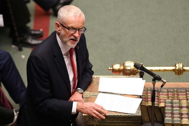 """Opposition leader Jeremy Corbyn: '""""This election is a once-in-a-generation chance to transform our country and take on the vested interests holding people back' (AFP Photo/JESSICA TAYLOR)"""