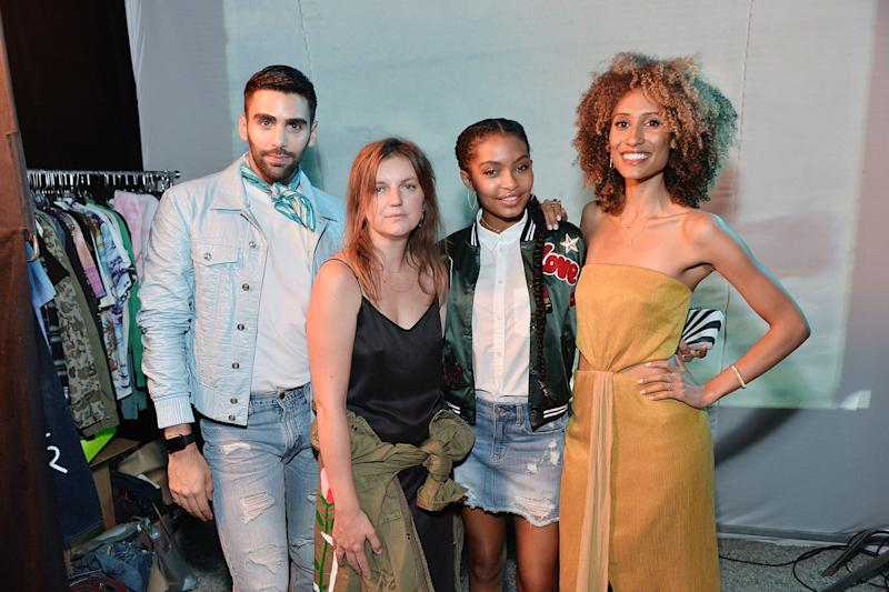 Philip Picardi, Marie Suter; Yara Shahid and, Elaine Welteroth. (Stefanie Keenan via Getty Images)
