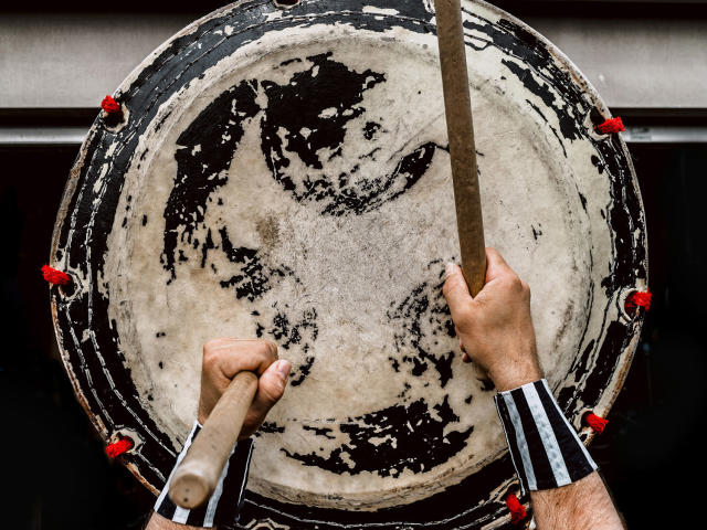 "<p><strong>The Fish — Japanese taiko player</strong><br> He said: ""For this series, I think reaching out to people and gaining access to the workspace was the most challenging part. (Photo: Sanwal Deen/Caters News) </p>"