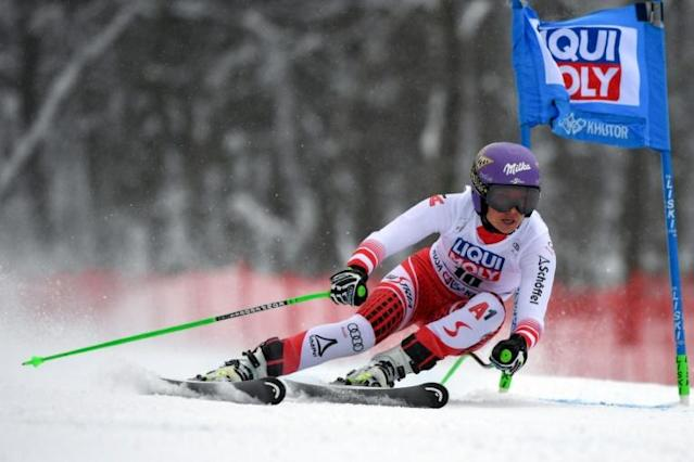 Austria's Anna Veith won the women's overall World Cup title in 2014 and 2015 (AFP Photo/Dimitar DILKOFF)