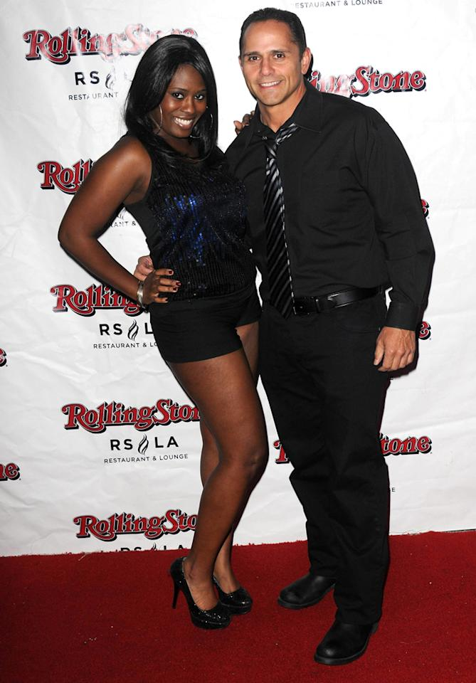 """Tennille Williams and Mario Martin attend Discovery TV's """"My Mom Is Obsessed"""" Screening Party  held at The Rolling Stone Restaurant & Lounge on April 30, 2012 in  Hollywood, California."""