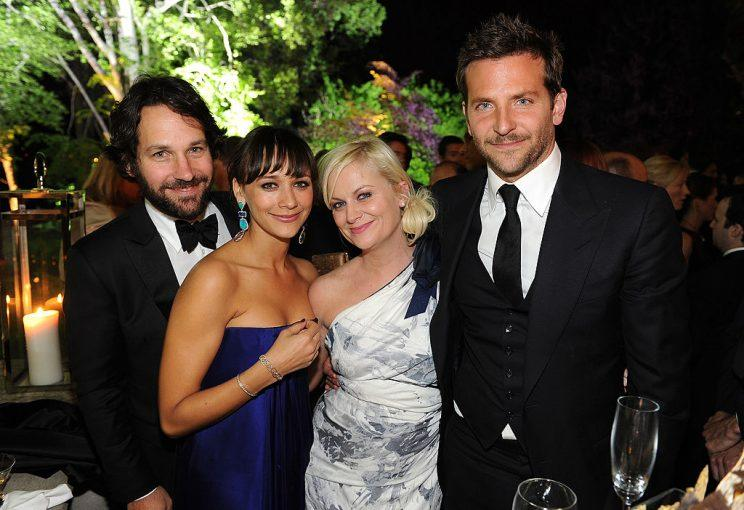 Anybody here who isn't famous? Paul Rudd, Rashida Jones, Amy Poehler, and Bradley Cooper were just a handful of the stars invited to the dinner in 2011. (Photo: Getty Images)