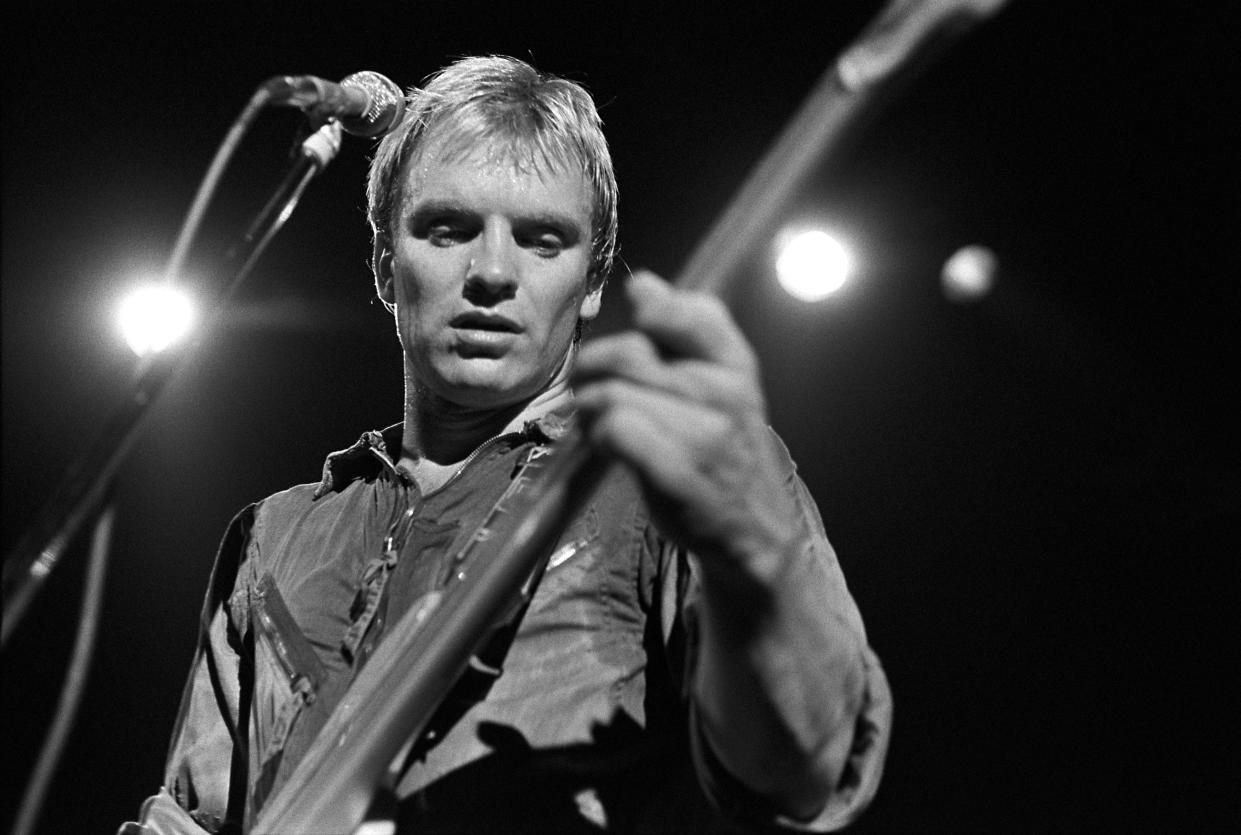 ATLANTA - APRIL 27:   Sting performs with The Police at the Agora Ballroom on April 27, 1979 in Atlanta, Georgia. ( Photo by Tom Hill/Getty Images)