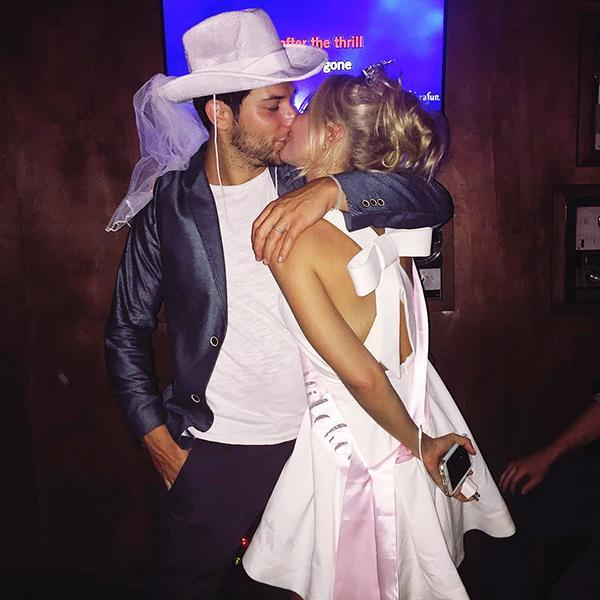"""<p>Camp and Astin's 2016 <a href=""""https://people.com/celebrity/anna-camp-and-skylar-astins-have-combined-bachelor-bachelorette-party/"""" rel=""""nofollow noopener"""" target=""""_blank"""" data-ylk=""""slk:joint bash"""" class=""""link rapid-noclick-resp"""">joint bash</a> was country-themed! Astin and the guys hung out at the pool while the ladies had brunch. Then at night, the whole group got together for line-dancing at the Cowboy Palace Saloon in Chatsworth, California. </p> <p>The two have split since then, and <a href=""""https://people.com/movies/anna-camp-skylar-astin-finalize-divorce/"""" rel=""""nofollow noopener"""" target=""""_blank"""" data-ylk=""""slk:finalized their divorce"""" class=""""link rapid-noclick-resp"""">finalized their divorce</a> in August 2019. Camp is now <a href=""""https://people.com/pets/pitch-perfect-anna-camp-boyfriend-michael-johnson-welcome-new-puppy/"""" rel=""""nofollow noopener"""" target=""""_blank"""" data-ylk=""""slk:dating drummer Michael Johnson"""" class=""""link rapid-noclick-resp"""">dating drummer Michael Johnson</a> and Astin called it quits with girlfriend Lisa Stelly in September, according to <a href=""""https://www.eonline.com/news/1300303/pitch-perfects-skylar-astin-and-girlfriend-lisa-stelly-break-up"""" rel=""""nofollow noopener"""" target=""""_blank"""" data-ylk=""""slk:E!"""" class=""""link rapid-noclick-resp""""><em>E!</em></a></p>"""
