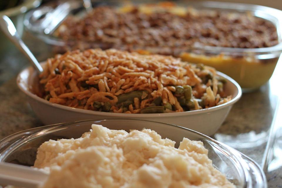 "<p>Another super cold state, another super hearty side dish FTW.</p><p>Get the <a href=""https://www.delish.com/holiday-recipes/thanksgiving/a55340/easy-homemade-classic-green-bean-casserole-recipe/"" rel=""nofollow noopener"" target=""_blank"" data-ylk=""slk:recipe"" class=""link rapid-noclick-resp"">recipe</a>.</p>"