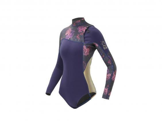 Keep your top half warm and your legs free for paddling in this colourful spring wetsuit (Picture Organic)
