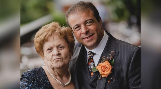 Nick Puopolo and his mother Savirea in an undated photo. Savirea is now 85 and lives at one of Ontario's long-term care homes hardest hit by COVID-19.