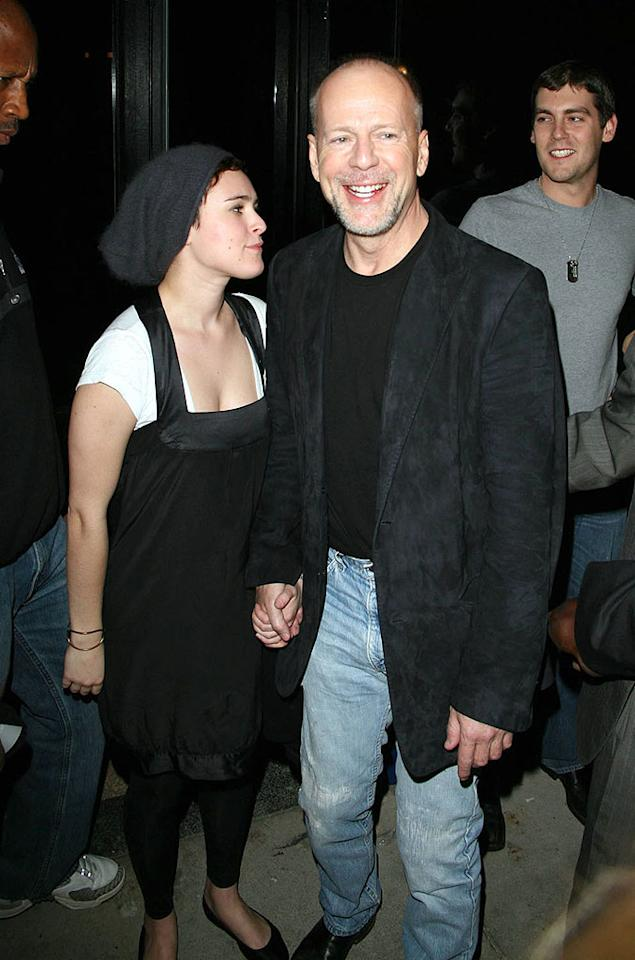 "Rumer Willis looks up to her famous father, Bruce. Alpha X/<a href=""http://www.x17online.com"" target=""new"">X17 Online</a> - November 29, 2007"