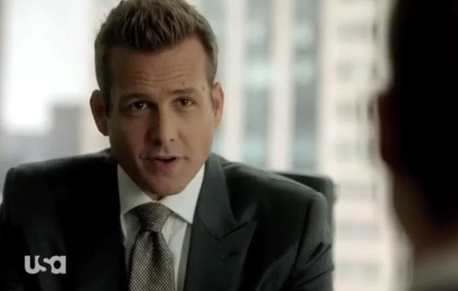 There's a bit of Harvey Specter which makes things temporarily better in the American drama series. Source: USA Network