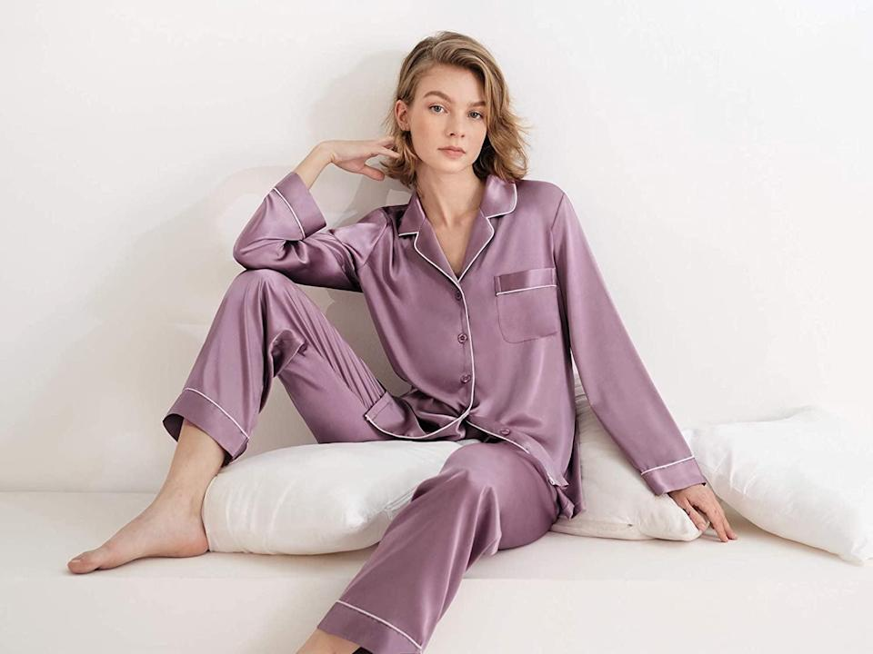 <p>You can't go wrong with a pair of trendy, luxe PJs, and these <span>Sioro Long Sleeve Silk Pajama Set</span> ($29, originally $49) are so soft and lightweight, you'll probably end up buying yourself a pair, too! These come in a variety of colors as well.</p>