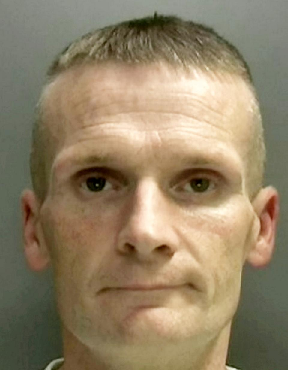 Thomas Cahill.  A career criminal who was wanted for a string of violent offences has been jailed after our traffic officers pursued him through Birmingham.  See SWNS story SWMDchase.  Last year police asked for the public's help to track down Thomas Cahill who was wanted over a number of offences across the West Midlands ranging from burglary, distraction burglary and robbery as well as aggravated vehicle taking. During his spree, a 78-year-old woman suffered a broken hip after being dragged to the ground as he snatched her bag in a Harborne street. He also broke into the home of another 78-year-old woman, cutting her phone line so she couldn't call for help, where he stole bank cards and cash. A woman in Edgbaston was stabbed multiple times to her hand as he tried to cut the strap of her handbag as she was walking down the street. And in a further callous move, he tricked his way into the house of a vulnerable man who had previously suffered from a stroke by asking for a glass of water. He stole his bank cards and later made purchases in a local supermarket.