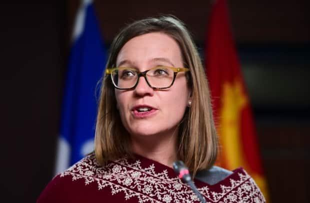 Minister of International Development Karina Gould, pictured in Ottawa last December, announced an additional Canadian financial contribution to COVAX facility, but no direct dose donations. (Sean Kilpatrick/The Canadian Press - image credit)
