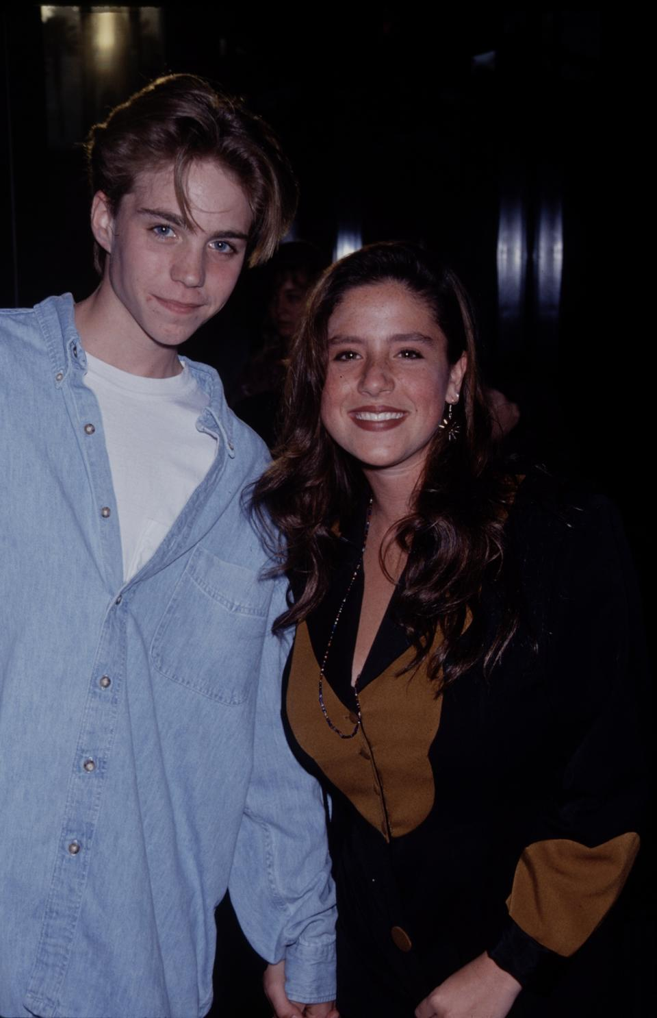 Soleil Moon Frye with Jonathan Brandis in 1990. (Photo: The LIFE Picture Collection via Getty Images)