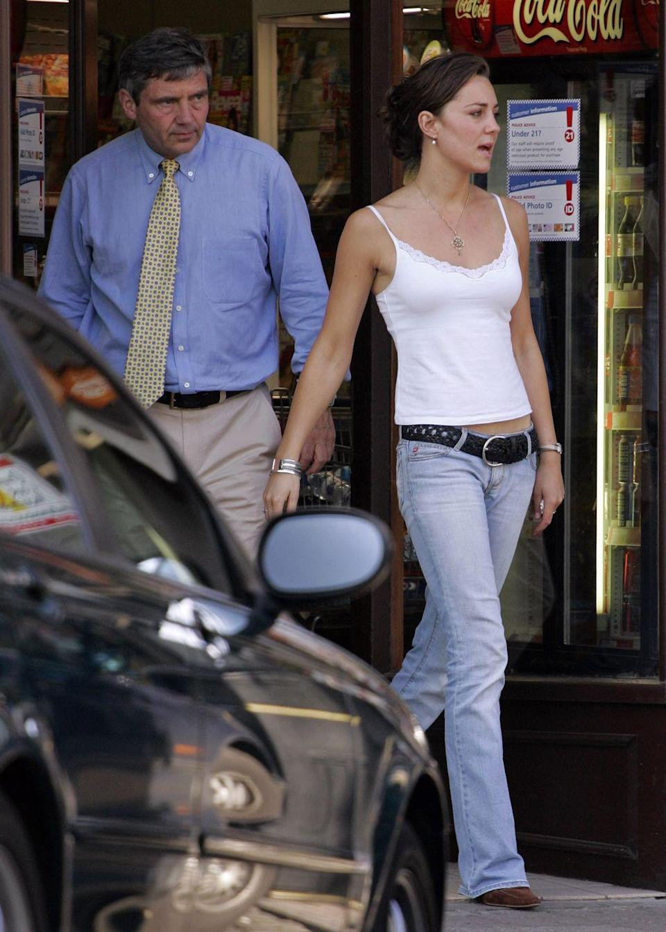 <p>Spotted with her father Michael Middleton on the day of her graduation from the University of St. Andrews.</p>