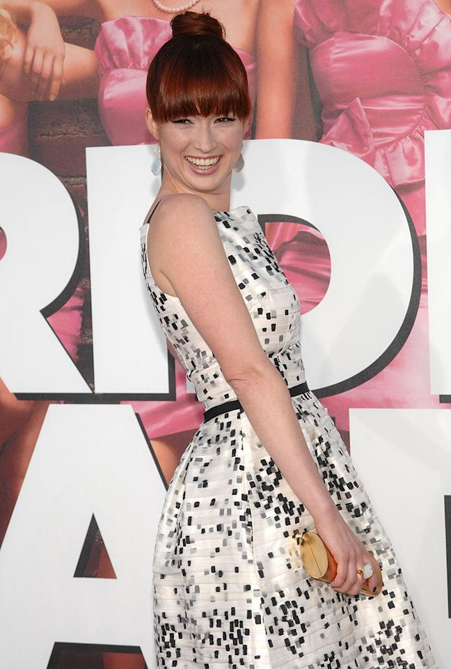 """Actress Ellie Kemper (""""The Office,"""" """"Bridesmaids"""") turns 31 Duffy-Marie Arnoult/<a href=""""http://www.wireimage.com"""" target=""""new"""">WireImage.com</a> - April 28, 2011"""