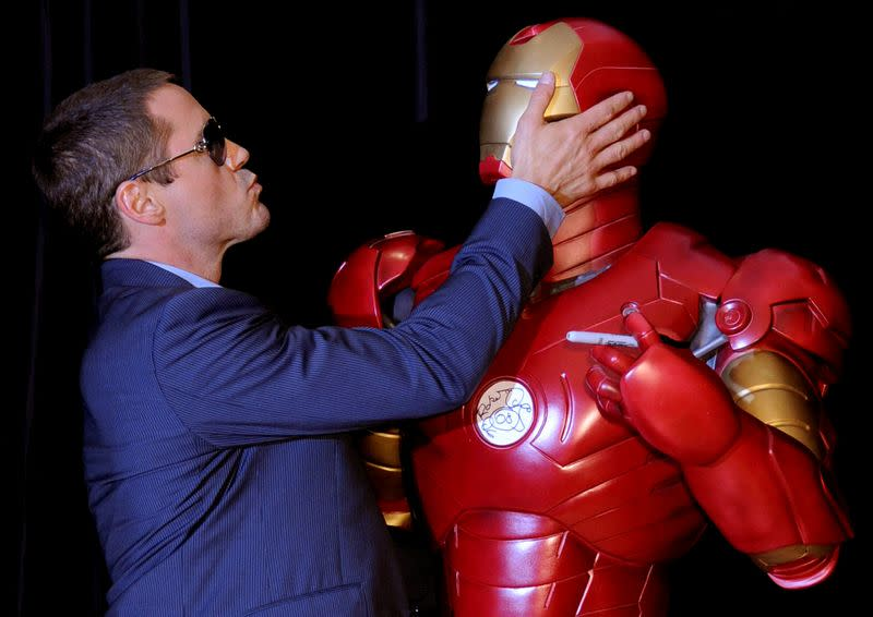"""FILE PHOTO: Actor Downey Jr attends the Australian premiere of his latest movie """"Iron Man"""" at the Greater Union Cinemas"""