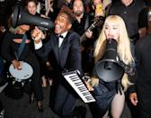 """<p>Jon Batiste joins Madonna in the streets of Harlem on Oct. 9 for an impromptu performance of """"Like a Prayer.""""</p>"""