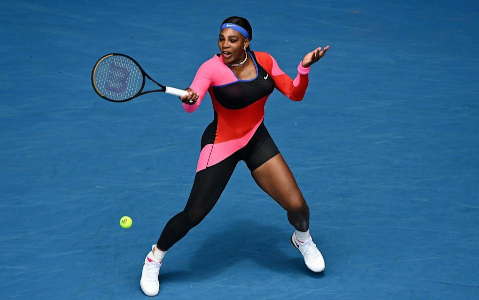 Serena Williams in action in the first-round of the Australian Open - Getty Images