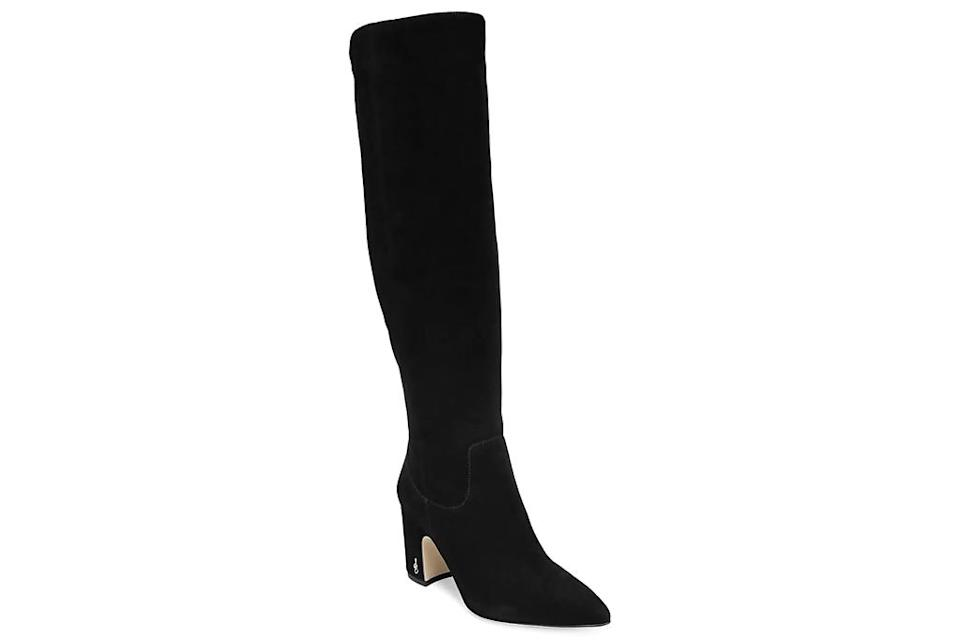 black boots, knee high boots, sam edelman