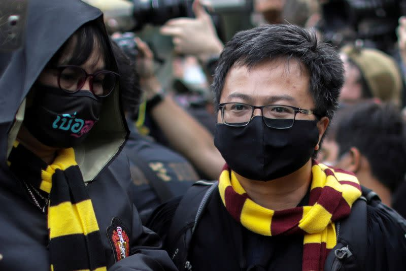 Thai police arrest two leaders of student protests