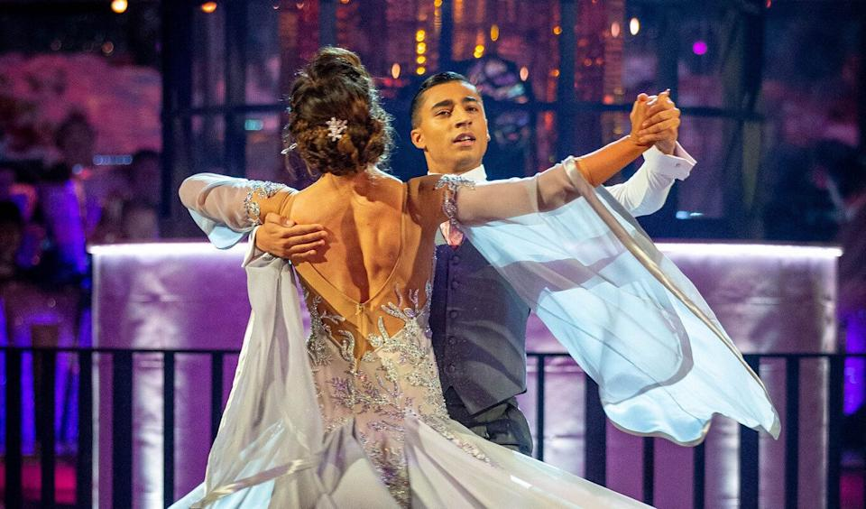 The pair had performed a Viennese Waltz (Photo: BBC/Guy Levy)