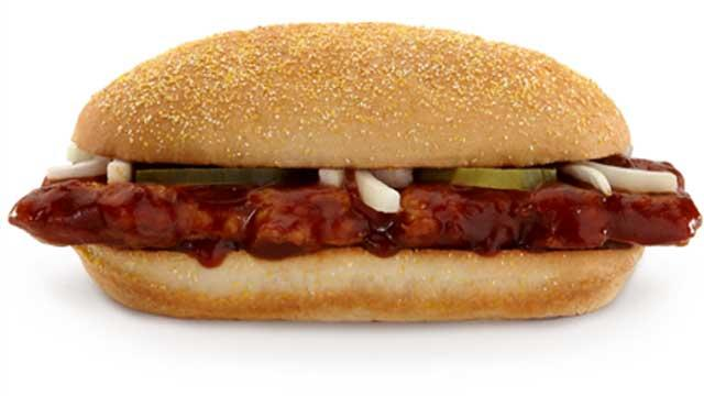McDonald's McRib Back for Christmas