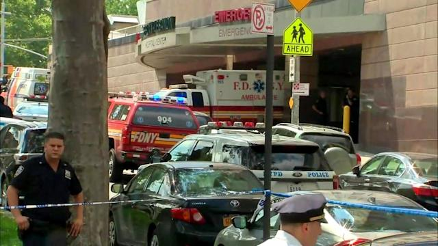 <p>Police confirmed the gunman is down, but did not provide any other details about him. Sources said he may be a former hospital employee. (WABC-TV) </p>