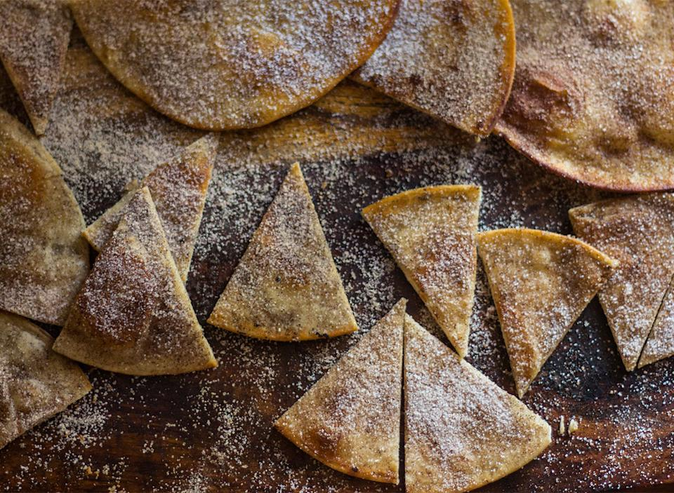 tortilla chips with cinnamon sugar