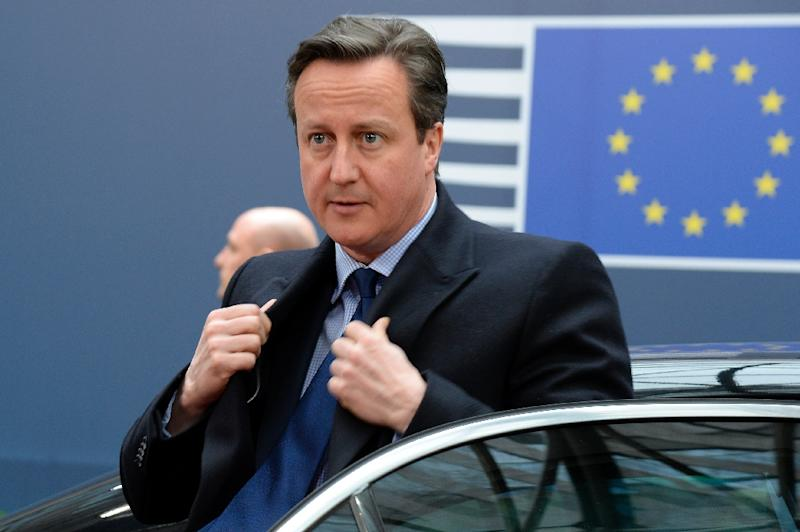 David Cameron has pledged to let Britons vote in 2017 on membership of the European bloc (AFP Photo/Thierry Charlier)