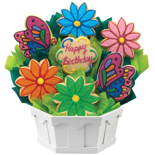 Cookies by Design Butterfly and Daisy Birthday Cookie Bouquet