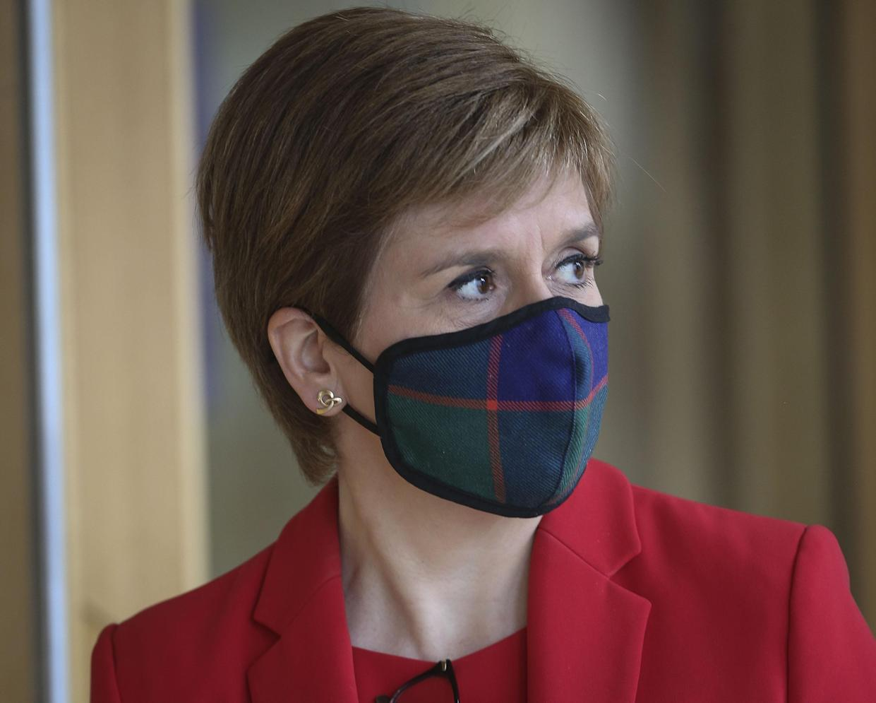 Scottish First Minister Nicola Sturgeon is calling for the furlough scheme to be extended (Fraser Bremner/Scottish Daily Mail/PA)