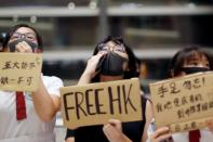 FILE PHOTO: Anti-government students gather for protests after school in Lok Fu, Hong Kong