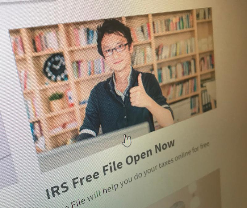 """The Internal Revenue Service web site at www.irs.gov features the """"Free File"""" program where 70% of taxpayers could do their taxes online for free."""