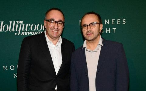 Producer Alexander Rodnyansky poses with Mr Zvyagintsev at a Hollywood Reporter function on Monday - Credit: Emma McIntyre/Getty Images for THR