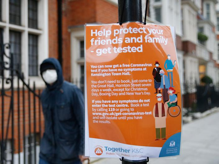<p>Rapid lateral flow testing is being extended to all local authorities in England</p> (Getty)
