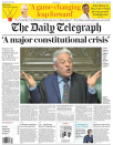 <p>'A major constitutional crisis' – The Daily Telegraph reminded readers that Mr Bercow was a Remain voter and he invoked a convention that was last used 99 years ago. </p>