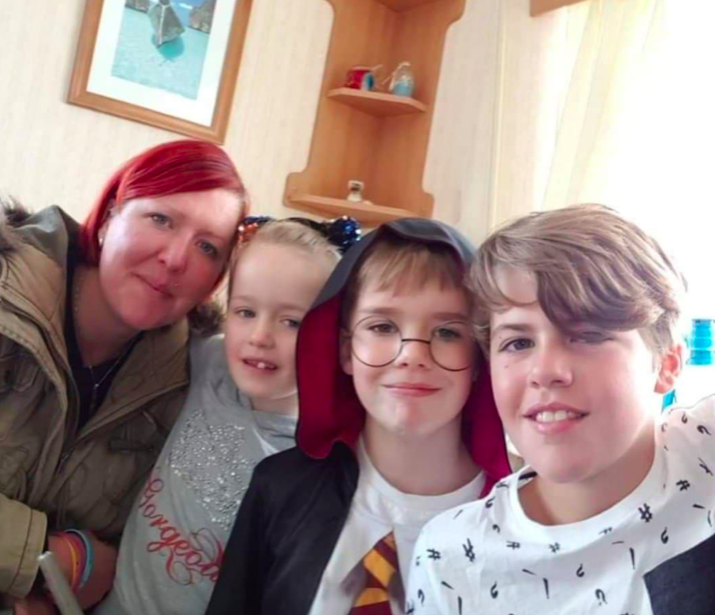 The mum-of-four was sleeping on the street for a charity fundraiser (Caters)