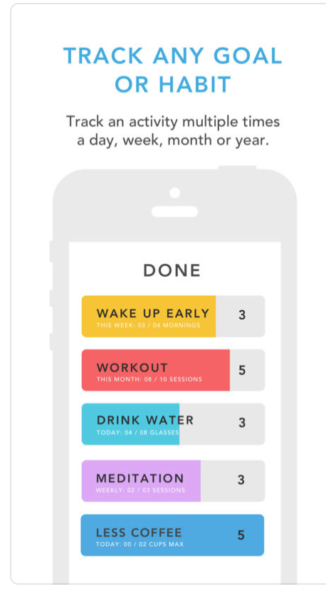 """<p>Struggling to kick that late night snacking? Just can't seem to wake up for those early am workouts? Letting go of bad habits is hard, and adopting healthy ones can seem brutal. Done aims to make both easier. Set goals, track your activity and progress, and set reminders to stay motivated throughout the day. </p><p>(<em>free basic version for iOS</em>, <em><a href=""""https://itunes.apple.com/us/app/done-a-simple-habit-tracker/id1103961876?mt=8"""" rel=""""nofollow noopener"""" target=""""_blank"""" data-ylk=""""slk:itunes.com"""" class=""""link rapid-noclick-resp"""">itunes.com</a></em>)</p>"""