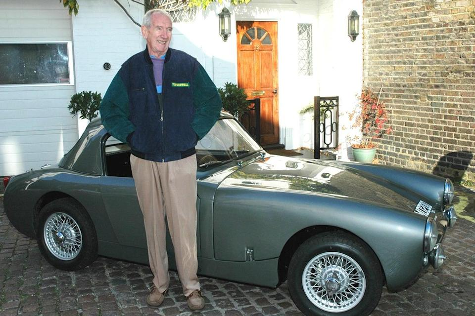 Sprinzel, pictured with his most famous car (Woolmer Classic Engineering)