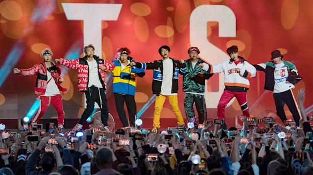 K-Pop Band BTS Rocks Its New Gear From Olympians Alex And Maia Shibutani