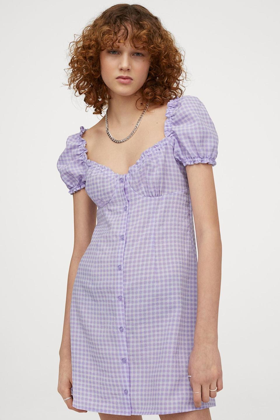 <p>This <span>Short A-line Dress</span> ($25) has a romantic and modern silhouette, making it a must for brunch dates.</p>