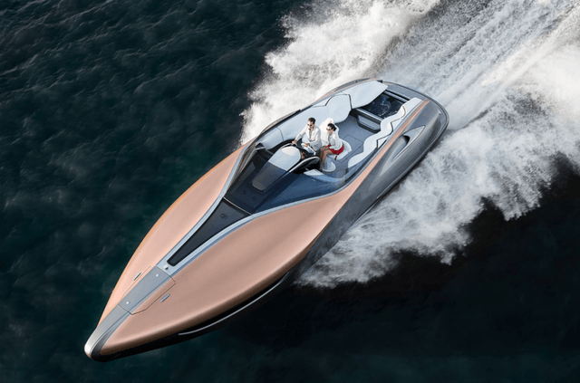 Toyota isn't new to the boat business, but the recently introduced 42-foot Lexus Sports Yacht is the first to use a corporate brand name. Two Lexus V8 racing engines can move the Sports Yacht at speeds up to 49 miles per hour.