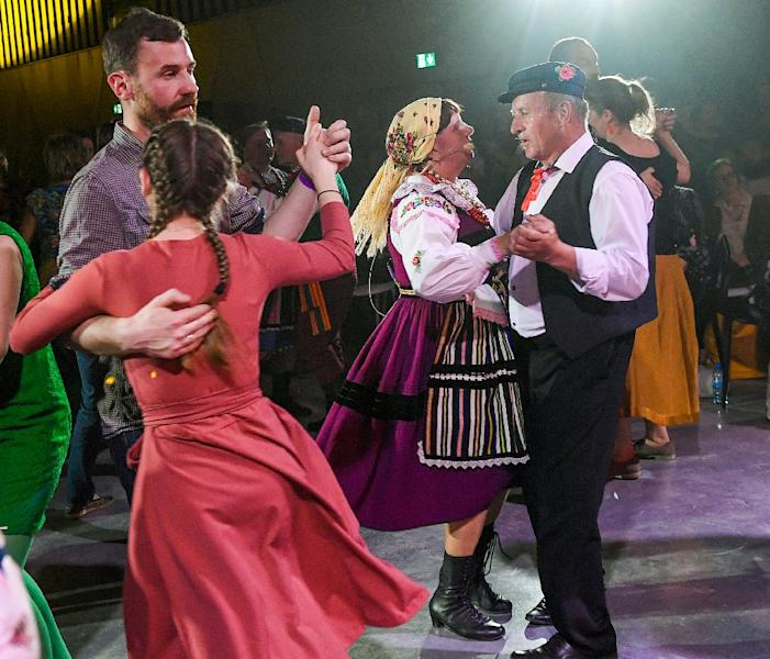 Mazurkas are dynamic and bold, with accents often placed on the second or third beat and tempo changes that can take dancers by surprise (AFP Photo/Janek SKARZYNSKI)