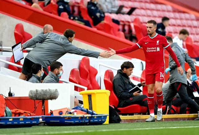 Jordan Henderson's injury is not believed to be serious