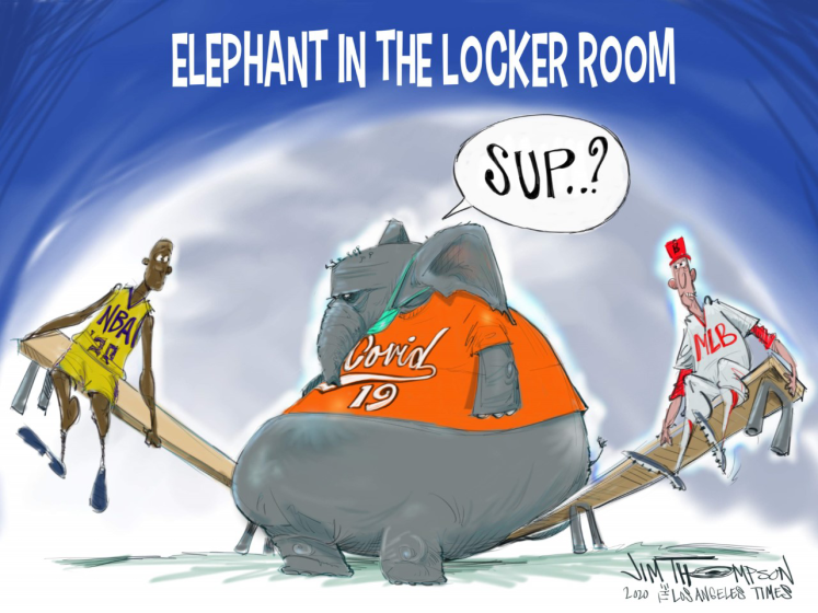 The elephant in the room for the NBA and MLB.